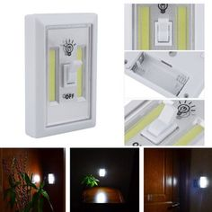 Wiring Diagram For Wall Lights 6w White Light Double Cob Led Switch Night 97 Honda Civic Radio 25 Best Lamp Images Industrial Lamps 2pcs Super Bright Wireless Multi Function Closet With Self Stick Bedside