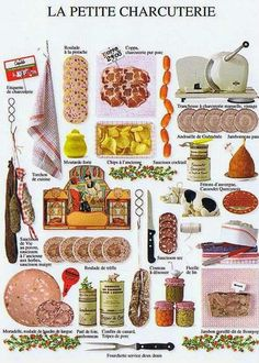 General Picture Group: Multiple of small delicatessen pictures.