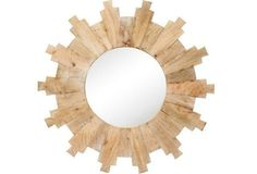 Beautiful sunburst wall mirror made from mango wood. Perfect for a gallery wall!