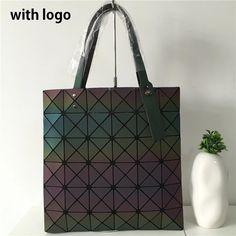 4110316995d2 Famous Brands Women BaoBao Bag Geometry Sequins Mirror Saser Plain Folding  Bags Luminous Handbags PU Casual Tote Bao Bao Package-in Top-Handle Bags  from ...