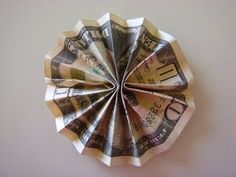 How to Make A Money Origami Rosette - Amypayroo