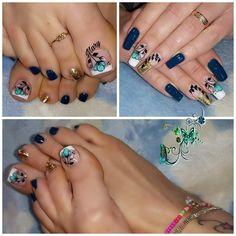 Toe Nail Art, Toe Nails, Pedicure, Thalia, Makeup, Tumbler, Color, Nail Art, Work Nails
