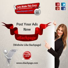 Improve your business sales & website traffic by posting classified free advertisement on eBackpage. For more info: http://www.ebackpage.com