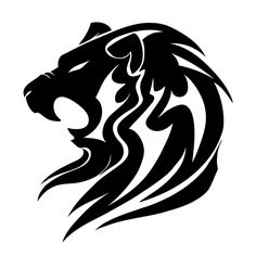 Image for Black Lion Tribal Tattoo Designs