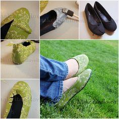Solo un retacito y reciclamos los zapatos que ya no usamos