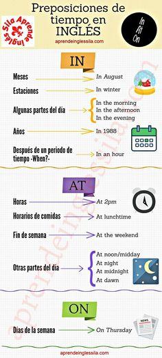 Preposiciones de tiempo
