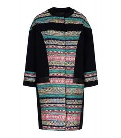 Shop New Arrivals at #ShopBAZAAR! - Prabal Gurung Tweed Paneled Coat