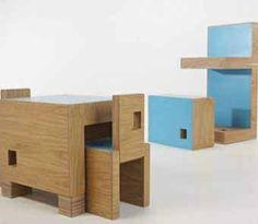 детская мебель-трансформер в разложенном виде