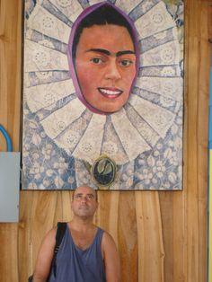 arte de Quepos con Miguelon y Frida  www.ogunquitbeachinn.com Quepos, Hand Fan, Home Appliances, Art, House Appliances, Appliances