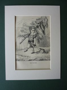 1877 Antique Print Of The Fir Tree By Hans by PrimrosePrints, £15.00 Great print; horribly sad tale, though...