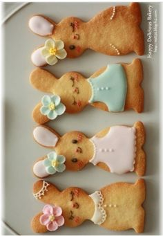 Cute bunny cookies for Easter!