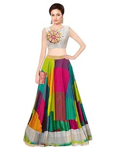 Buy Sancom Multi Colour With Embroidery & Digital Print Work Semi-Stitched Lehenga online in India at best price.ehenga Cholis from House of Sancom Lehenga- (Semi Stitched) Art Silk With Digital Print Work, Blouse Choli Blouse Design, Blouse Designs, Pakistani Outfits, Indian Outfits, Navratri Dress, Look Short, Sari Dress, Maxi Outfits, Lehenga Choli Online