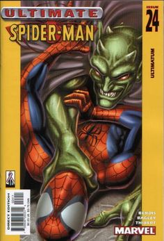Ultimate Spider-Man # 24 by Mark Bagley Comic Books For Sale, Marvel Comic Books, Marvel Comics, Stan Lee Spiderman, Spiderman Art, Marvel Ultimate Spider Man, Mark Bagley, Man Illustration, Spider Verse