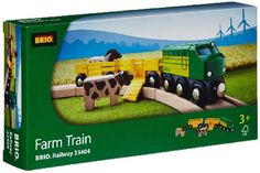Brio Farm Train BRI-33404 The horse and the cow need to be transported out to the pasture. Fold down the ramp and help them get into their very own wagons. Let the retro six wheel engine pull them along to their final stop. Th http://www.MightGet.com/january-2017-12/brio-farm-train-bri-33404.asp