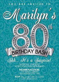 80th Birthday Invitations Ideas | BagVania Invitations Ideas                                                                                                                                                     More