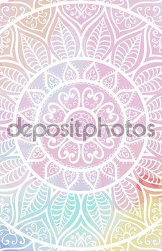 Elegante Spitzen-Karte. Gehäkelte Mandala. Vektor-Vorlage. Dekorative Elemente…