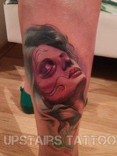 #mother #nature #dia #de #los #muertos #color #tattoo #portret #face by Mihai Bizduianu