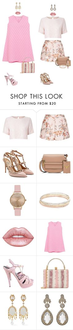 """""""Pink"""" by audrey-balt on Polyvore featuring True Decadence, STELLA McCARTNEY, Valentino, Topshop, Kate Spade, Lime Crime, Emilia Wickstead, Yves Saint Laurent, Alexander McQueen and Dolce&Gabbana"""