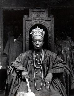Africa   Yoruba Kings series: The Ogoga of Ikere seated.   ©Ulli Beier