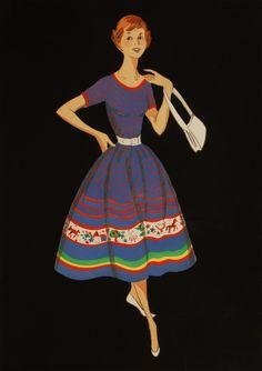 1950s Mad Men style dress