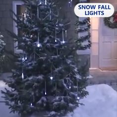 Snow Fall LED Lights Turn your garden into a secret magical place with Snow Fall Lights! Watch them fall down like real Best Christmas Lights, Cool Christmas Trees, Christmas Tree Themes, Outdoor Christmas, Christmas Wreaths, Holiday Decor, Advent Wreaths, Christmas Tables, Magical Christmas