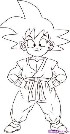 Dragon Ball Z : Coloriage gratuit Sangoku Dragon Ball Z à