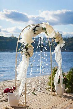 Oceanfront beach wedding
