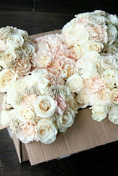 Wedding bouquets. Replace the carnations with dhalias.
