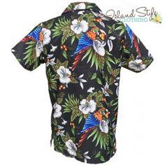 fc64f8c5ada Black Magnum Plus Size Mens Hawaiian Shirts Parrots Big Boy Mens Hawaiian  Shirts