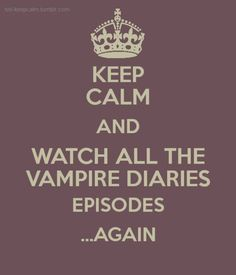 The Vampire Diaries episodes are the best to watch again and again! I haven't gotten sick of it yet! I've watched all 6 seasons of The Vampire Diaries on netflix 3 times already and i'm not sick of watching it over and over again yet! Vampire Diaries Memes, Vampire Diaries Damon, Serie The Vampire Diaries, Vampire Diaries Wallpaper, Vampire Daries, Vampire Diaries The Originals, Delena, Tvd Quotes, Vampire Quotes