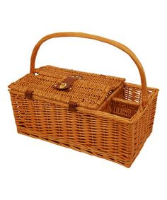 Look at this #zulilyfind! 16'' Willow Picnic Basket #zulilyfinds