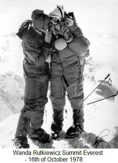 Wanda Rutkiewicz, first woman on top of and first European woman on top of Everest Mountain Climbing, Rock Climbing, Nepal, Summit Everest, Monte Everest, Sacred Mountain, Everest Base Camp Trek, Cross Country Skiing, Top Of The World