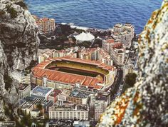 The Stade Louis II in Monte Carlo, where Manchester City will aim to reach the quarter-finals of the Champions League on Wednesday evening, is one of football's enduring curiosities. Soccer Stadium, Soccer Fans, Football Stadiums, Football Troll, Football Pics, Retro Football, Germany Team, France Team, National Stadium