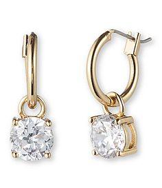 Anne Klein Crystal Hoop Drop Earrings #Dillards