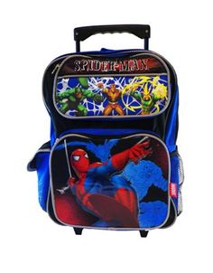SpiderMan Rolling BackPack – Spider Man Large « Clothing Impulse.  Awesome for Derby gear!