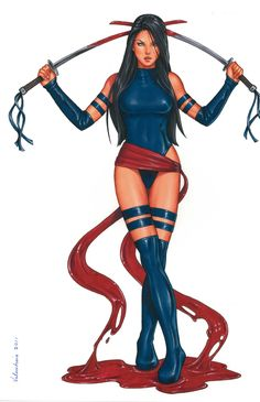Psylocke by Conny Valentina Comic Art  Auction your comics on http://www.comicbazaar.co.uk
