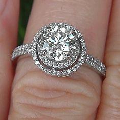Diamante anillo Semi Monte ajuste14 K oro blanco por BeautifulPetra