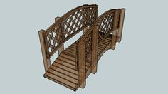 Large preview of 3D Model of Garden Bridge