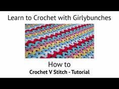 V stitch crochet blanket ~ Crochet Free Patterns