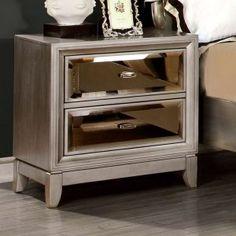 Mirrored Nightstands on Hayneedle - Mirrored Bedside Tables