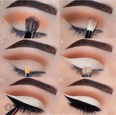 Best Techniques for Applying Eyeliner for Almond Eyes - 2020 Eye Makeup Art, Makeup Geek, Skin Makeup, Makeup Inspo, Makeup Addict, Makeup Inspiration, Beauty Makeup, Eyeliner For Almond Eyes, Mac Eyeshadow