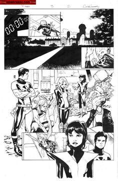 X-Men #3 p.2 by Olivier Coipel *