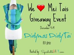 #babywearing #giveaway The Woven Didymos DidyTai falls in the middle between a buckle carrier and a wrap.  Also called a wrap Tai, the Didymos Didy Tai has a body style that not only suitably carries babies legs out in a deep squat from day 1 but allows freedom of movement for older babies. RV $190