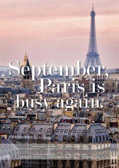 September Paris is busy again, Septembre Paris s'anime.