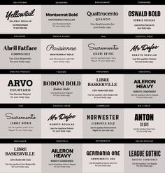 Image result for bold font pairing with script