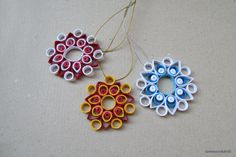 Quilling Christmas Ornament Quilled Snowflake Set Snowflake