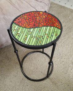 Flower Power table - Jane Russell Mosaics