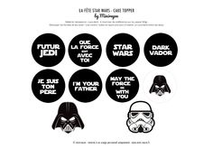 DIY Birthday Star Wars Tous les tips pour une fête Star Wars by Moma Star Wars Party, Theme Star Wars, Star Wars Birthday Cake, Bear Birthday, Diy Birthday, Star Wars Kids, Lego Star Wars, Printable Star Wars, Carte Star Wars