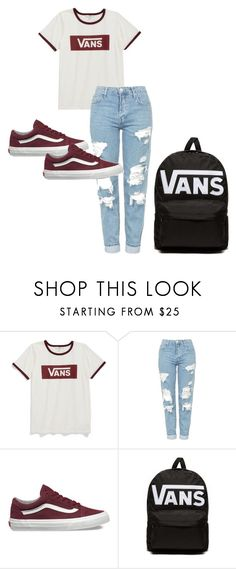 """vans"" by katieivory ❤ liked on Polyvore featuring Vans and Topshop"