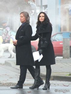 """Robert Carlyle and Lana Parilla - Behind the scenes - 5 * 12 """"Souls of the Departed"""" - 4 November 2015"""